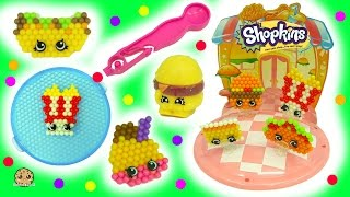 getlinkyoutube.com-Make Your Own Fast Food Diner Shopkins - Beados  Water Beads Craft Playset - Toy Video