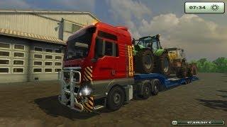 getlinkyoutube.com-Farming simulator 2013 Trasporto eccezionale MAN TGX