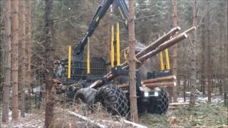 getlinkyoutube.com-Valtra N134 JJP-Trailer....Lännen 740 forest