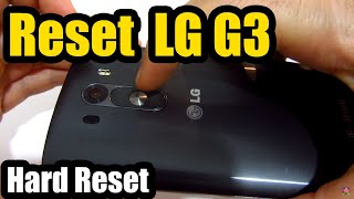 How to Reset LG G3 (Power+Volume Buttons)