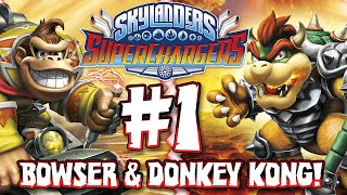 getlinkyoutube.com-Skylanders Superchargers - Part 1: Bowser & Donkey Kong!