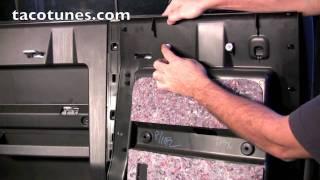 getlinkyoutube.com-Tacoma Stereo Speakers Subwoofer Installation - Tear down process