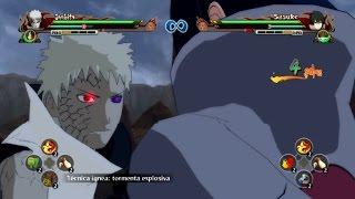 getlinkyoutube.com-Obito Jinchuuriki Vs Ultimate Rinnegan Sasuke (Mods) - Naruto Storm Revolution 【HD】