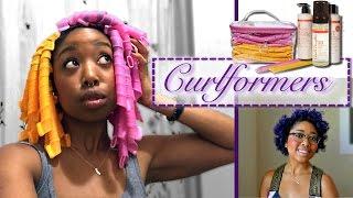 getlinkyoutube.com-No Heat Curls | Curlformers (Natural Hair | 3c 4a)