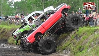 getlinkyoutube.com-King Krush Monster Truck in All Day Mud Bog Beatin'