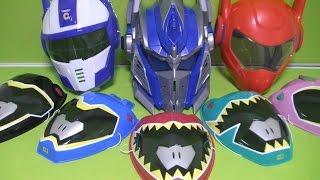 getlinkyoutube.com-파워레인저 다이노포스 가면 장난감 Power Rangers Dino Charge Mask Toys