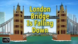 getlinkyoutube.com-London Bridge Is Falling Down Nursery Rhymes with Lyrics | Popular Baby Songs