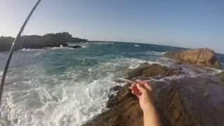getlinkyoutube.com-ΨΑΡΑΜΑ SPINNING ΛΑΒΡΑΚΙ LARGE 2.700gr -seabass fishing