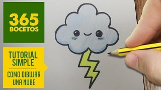 getlinkyoutube.com-COMO DIBUJAR UNA NUBE KAWAII PASO A PASO - Dibujos kawaii faciles - How to draw a Cloud