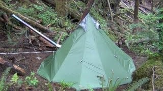 getlinkyoutube.com-Another UltraLight Backpacking Hot Tent and Titanium Wood Stove