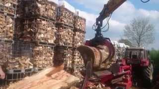 getlinkyoutube.com-Starkholz spalten mit  Growi Holzspalter GSW 40