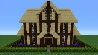 getlinkyoutube.com-Minecraft Tutorial: How To Make A Wooden House - 12
