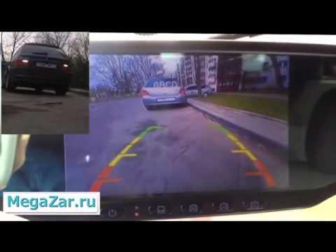 Зеркало заднего вида на дороге в действии.mp4