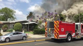 getlinkyoutube.com-House Exploded; Resultant House Fires ~ Koreatown Los Angeles ~ 2016