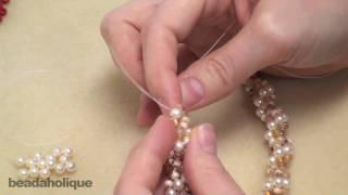 getlinkyoutube.com-How to Do Spiral Rope Stitch for Beading & Make a Bracelet