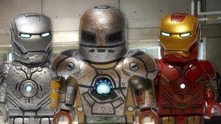 getlinkyoutube.com-LEGO Marvel : Iron Man Mark I, Mark II, & Mark IV - Showcase
