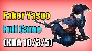 getlinkyoutube.com-SKT T1 Faker Yasuo vs Lissandra Mid - Full Game (Feb 27, 2015)