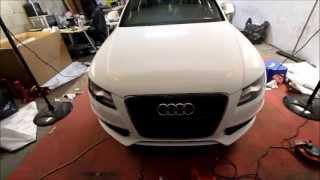 getlinkyoutube.com-Audi A4 3M Gloss White Wrap