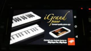 Utilizando o Yamaha MX61 para controlar o iGrand Piano para Android
