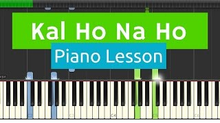 Kal Ho Na Ho / Har Ghadi EASY Basic Piano Tutorial with SHEETS width=