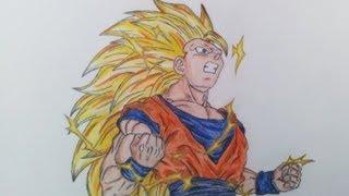 getlinkyoutube.com-Drawing Goku SSJ3