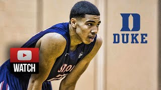 getlinkyoutube.com-Jayson Tatum Full Highlights vs Team CP3 (2015 Nike EYBL Peach Jam SF) - 28 Pts, Goes to Duke!