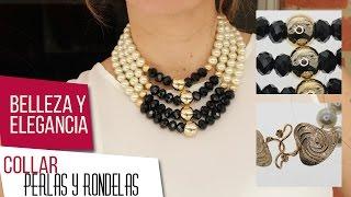 getlinkyoutube.com-Como hacer collar de perlas y rondelas Kit 26521 | VARIEDADES CAROL