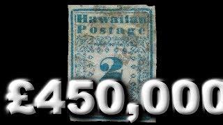 getlinkyoutube.com-Rare Stamps and Curiosities Pt3 - 2 Cent Hawaiian Missionaries Inverted Elephant Liberia Error
