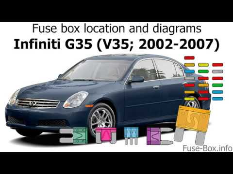 Fuse box location and diagrams: Infiniti G)