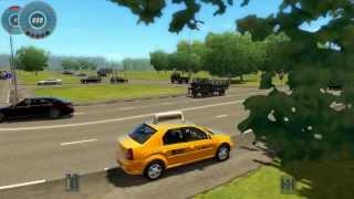 getlinkyoutube.com-City Car Driving 1.2.5 : Renault/Dacia Logan TAXI - [ HD 1080p ]
