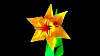 getlinkyoutube.com-How to make an Origami Daffodil