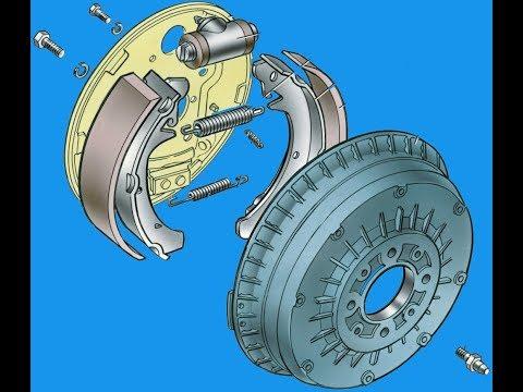 Замена задних тормозных колодок на ваз ()