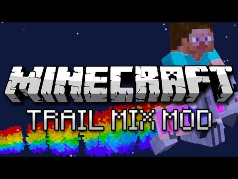 Minecraft: Nyan Pig Launchers, Fireball Shooting, and More! (Trail Mix Mod)