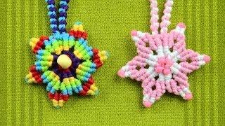getlinkyoutube.com-How to Make a Macrame Star Flower / Tutorial