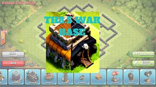 getlinkyoutube.com-Th8.5 war base || Clash of Clans speed building + replay
