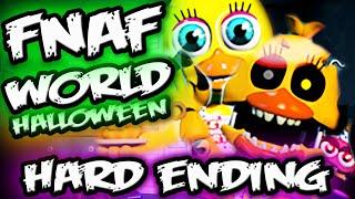 FNAF WORLD HALLOWEEN EDITION Gameplay || HARD Mode Done! || FNAF World Ending