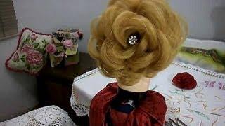 getlinkyoutube.com-Penteado rosa perfeita - passo a passo -  Perfect rose hairstyle - step by step
