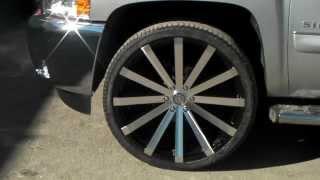getlinkyoutube.com-DUBSandTIRES.com 26 Inch Velocity VW12 Black Machine 2014 Chevy Silverado Rims Miami Ft. Lauderdale