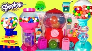 getlinkyoutube.com-SHOPKINS & GUMBALL Banks LEARN Colors and Numbers with Gumballs & Shopkins Surprises!