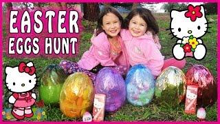 getlinkyoutube.com-HELLO KITTY SURPRISE EGG HUNT Hello Kitty Toys, Hello Kitty Easter Eggs, Hello Kitty Egg Surprise