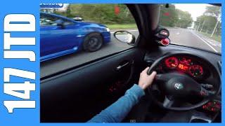 getlinkyoutube.com-POV Alfa Romeo 147 JTD 272 HP vs 300 HP Subaru WRX STI
