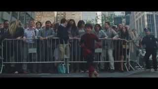The Amazing Spider Man 2 End Scene: Kid Stands Up Against Rhino Man - High Definition