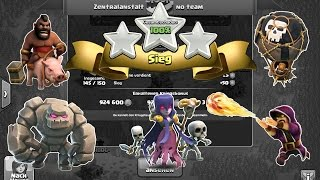 getlinkyoutube.com-Clash of Clans Rathaus 9 3 Sterne Angriffstrategien - GoHog, GoLaLoon, GoWiPe... | little mc t