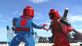 getlinkyoutube.com-LEGO DEADPOOL VS SPIDERMAN (Battle) - LEGO Marvel Super heroes
