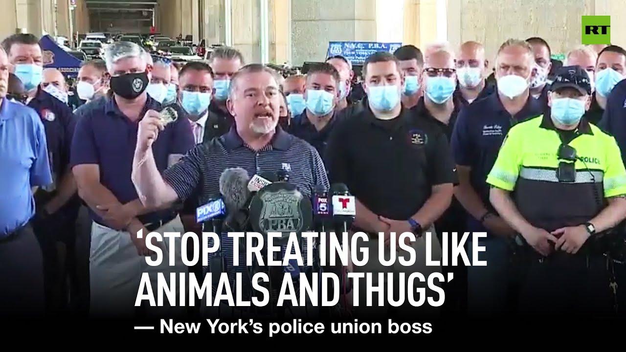 NY Police Union Head Has Something to Say