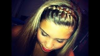 getlinkyoutube.com-Braided Head Band hair tutorial!