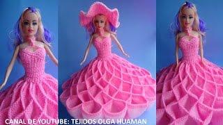 getlinkyoutube.com-vestido tejido a crochet para muñeca, video 2