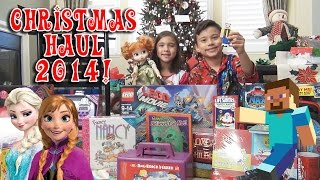 CHRISTMAS HAUL 2014!!! Minecraft, Frozen, LEGO, My Little Pony, Hello Kitty, Candy!