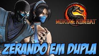 getlinkyoutube.com-Zerando em Dupla - Sub Zero e Kitana Mortal Kombat 9