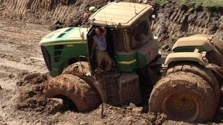 getlinkyoutube.com-John Deere tractor stuck compilation 2016